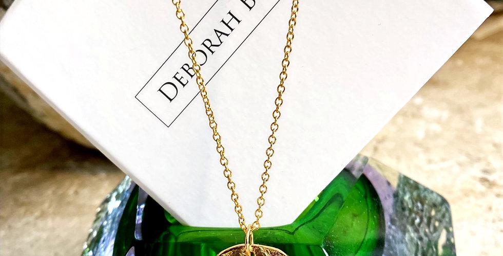 Deborah Blyth Thalassa Textured Gold Coin Necklace