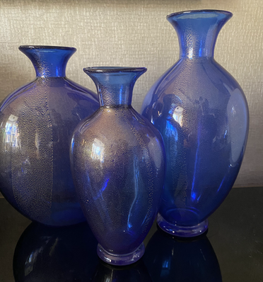 Mid Century Vessel's Signed By Archimede Seguso