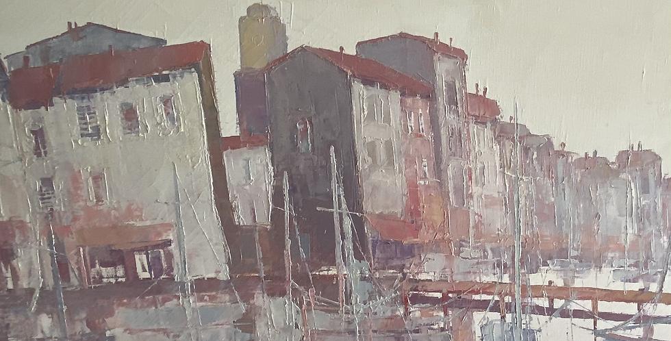 1970s Oil of St Tropez