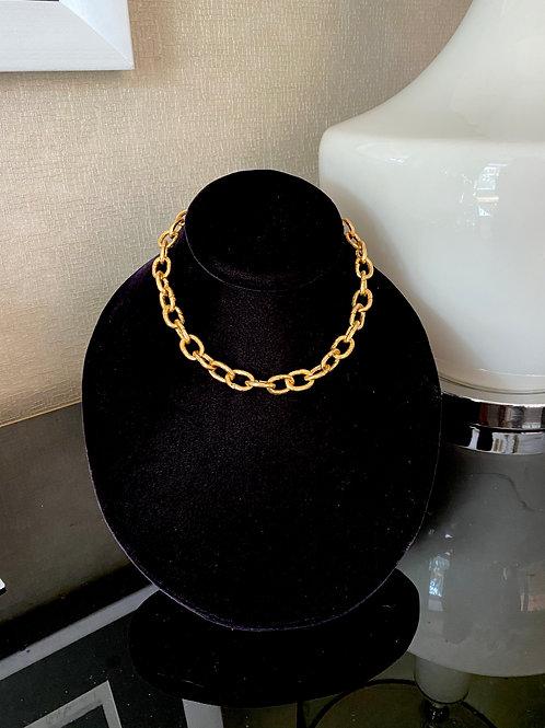 Chunky Gold Choker Chain