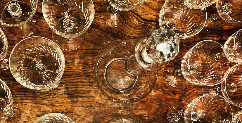 A 1920's full suite of French Crystal glasses in the style of Baccarat