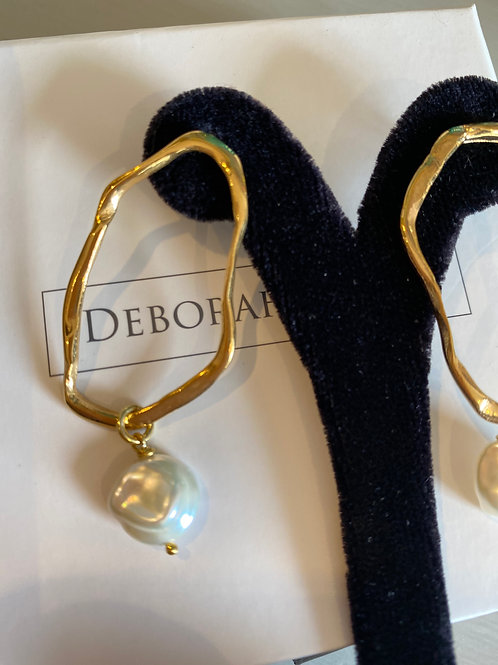 Deborah Blyth Ripple with Pear Earrings