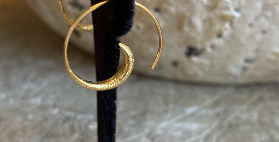Gold Small Sculptural Earrings