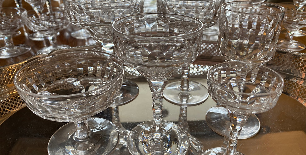 Collection Stunning CountryHouse Glasses Circa 1920