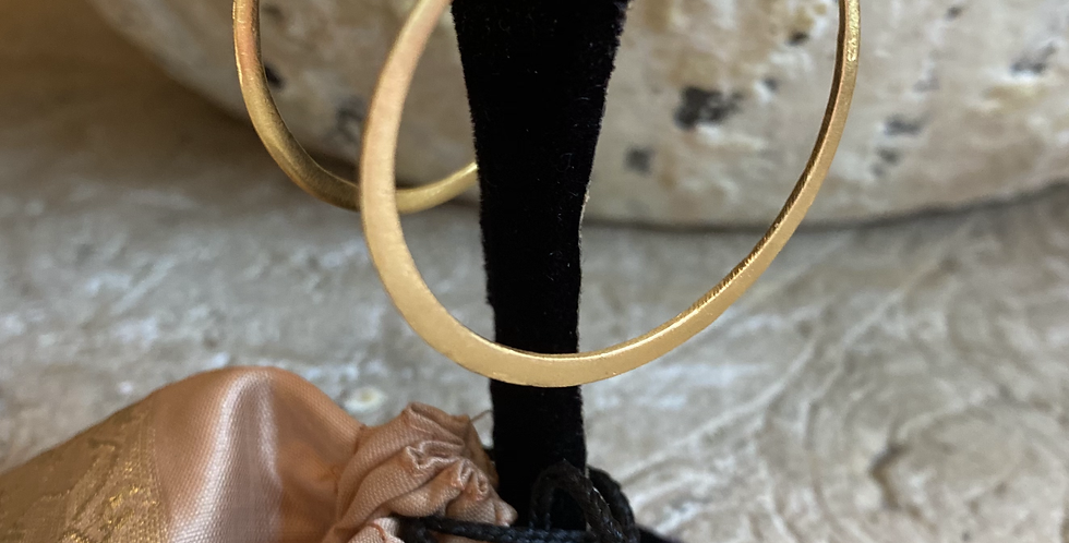 Flattened Gold Hoop Earrings