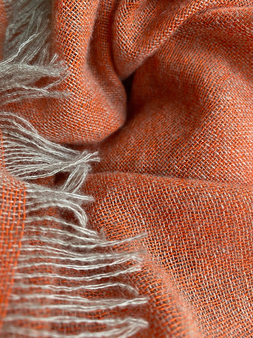 Luxurious Cashmere Scarf,Soft Orange Marl
