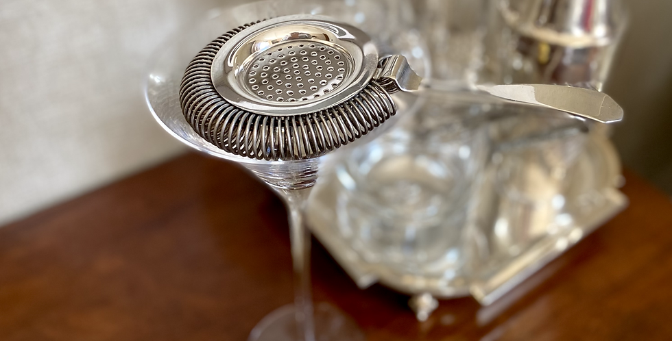 Vintage French Silver-plated Cocktail Strainer