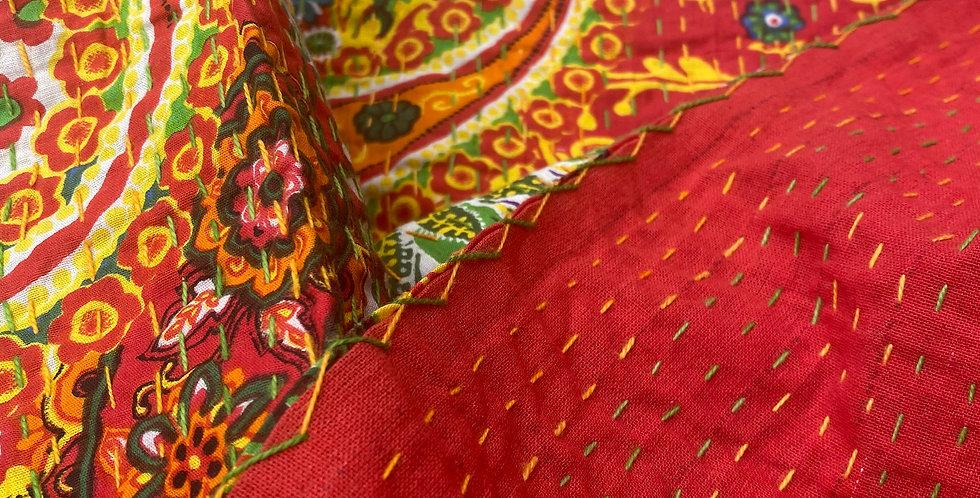 Cotton Kantha Throw/Tablecloth