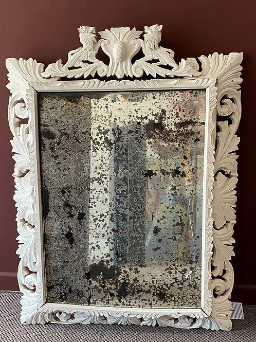 Large Antique Cushion  Frame Wall Mirror