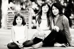Chrissy, Emma and Adrian
