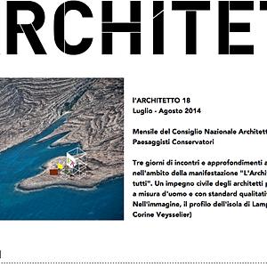 Rivista L'Architetto - Consiglio Nazionale degli Architetti PPC