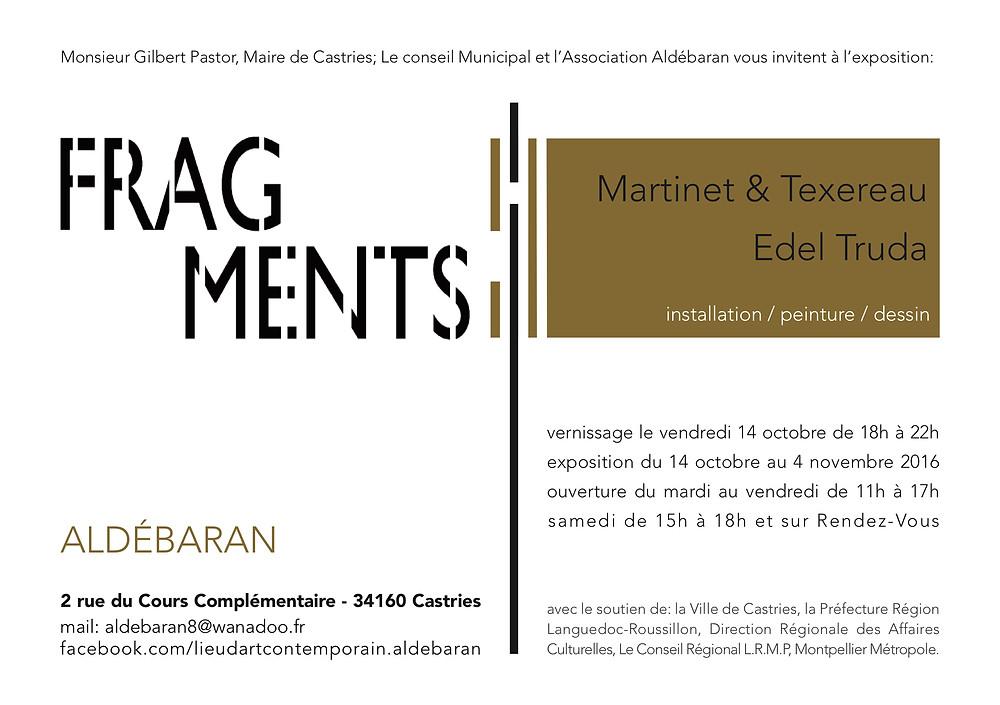 Exposition suite à la résidence à Aldébaran à Castries ( 34 )