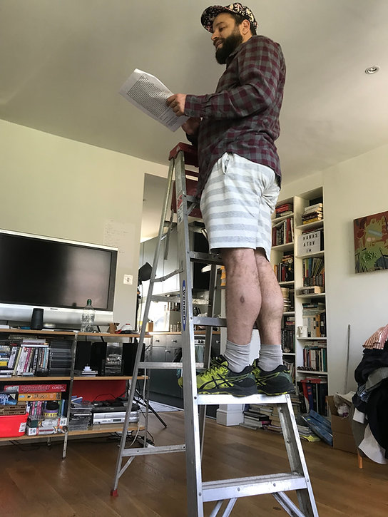 victor on the ladder lockdown standing h