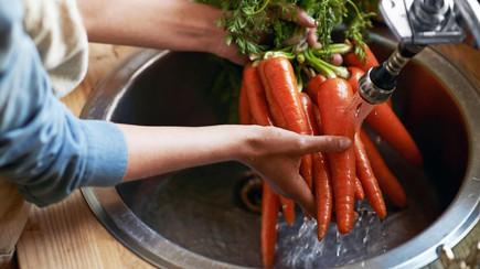 Higienização de vegetais em casa