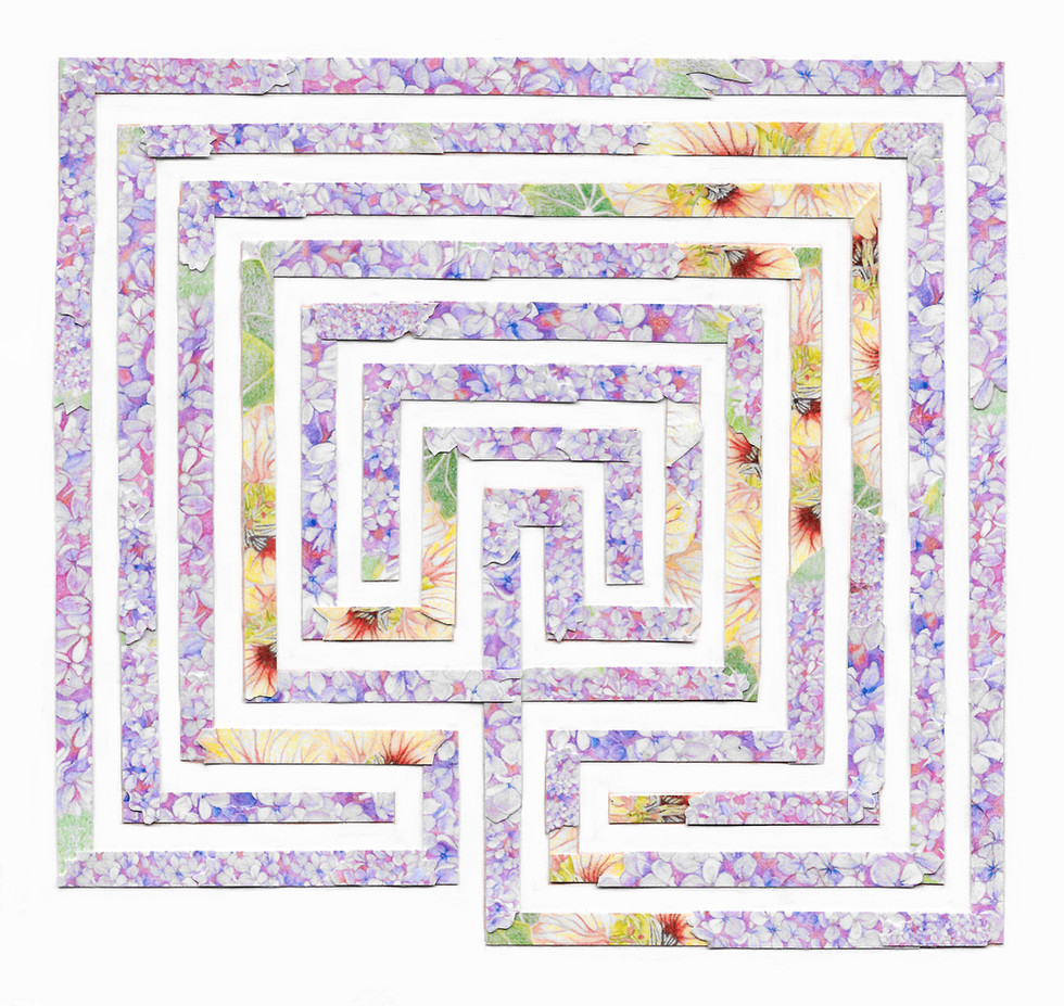 Labyrinth with Lilac and Nasturtium