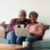 couple watching laptop