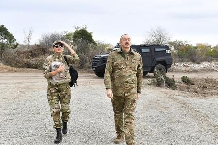 Prezident İlham Əliyev və Mehriban Əliyeva Laçında olublar