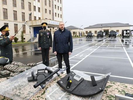 İlham Əliyev yeni hərbi hissənin açılışında olub