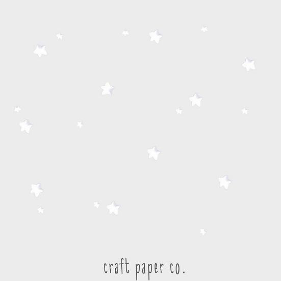 Beyaz Yıldızlar 20'li Duvar Etiketi Seti