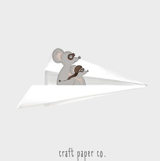 Miki Kağıt Uçakta Duvar Etiketi