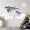 Thumbnail: Boy Flying On Whales Duvar Etiketi Seti