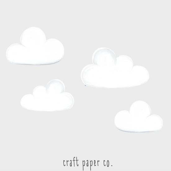 Pofidik Bulutlar Duvar Etiketi