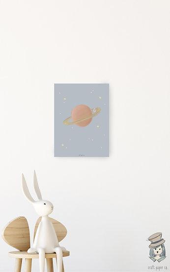 Miki On Saturn Poster