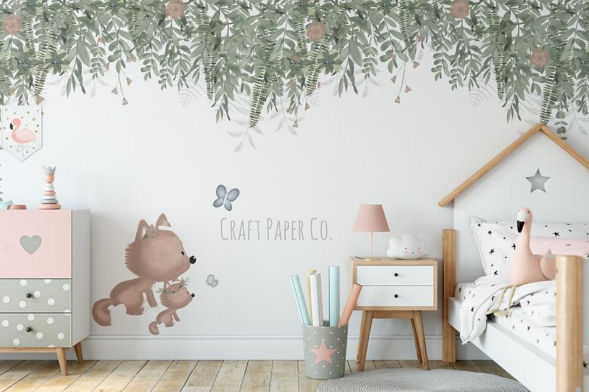 Anne Tilki ve Çocuk Tilki Duvar Kağıdı