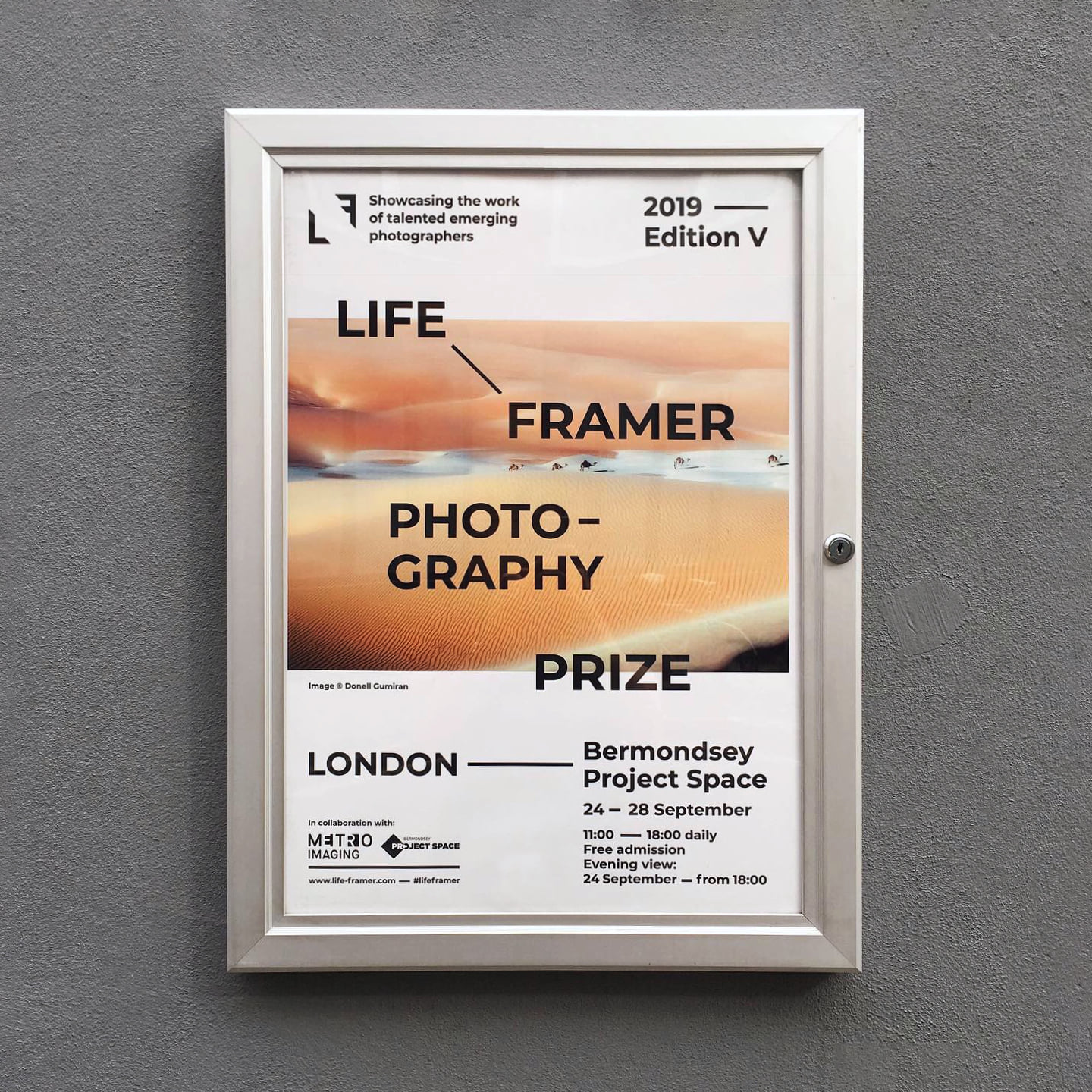 Véronique L'hoste, projection de STIGMATES, Life Framer Photography Prize à Londres