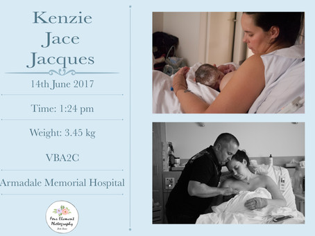 Birth of Baby Jacques | VBA2C |Armadale Memorial Hospital