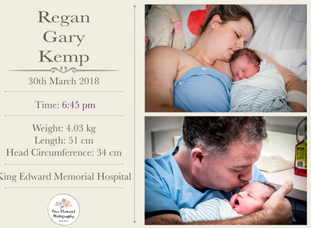 Birth of Baby Kemp | Emergency Caesarean | King Edwards Memorial Hospital