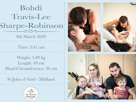 Birth of Baby Sharpe-Robinson   Natural Induction   St John of God – Midland