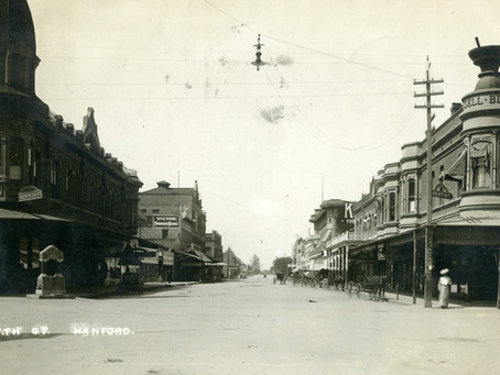 Corner of 7th and Douty Hanford 1907 - 2020