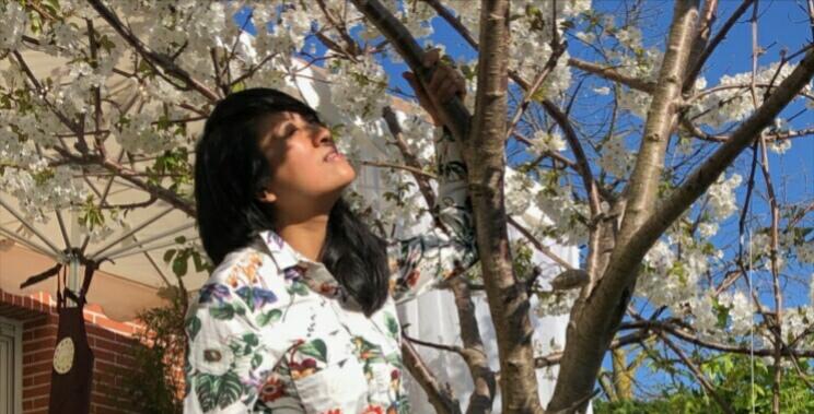Milla et son cerisier fleuri