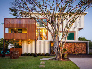 Steel containers converted into living spaces on display at Cleveland Home + Remodeling Expo