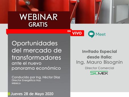 Webinar: Oportunidades del mercado de transformadores Vs. Nuevas realidades económicas