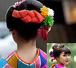 일본 전통 헤어세트