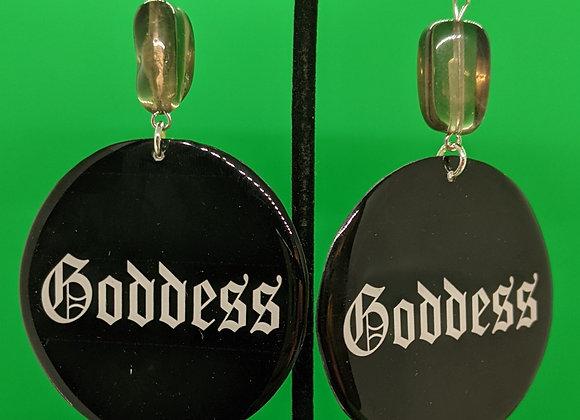 Smokey Quartz Goddess Earrings