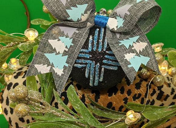 Blue Zia Ornament