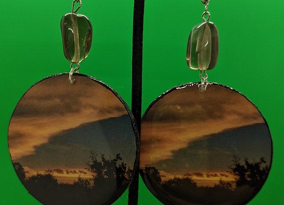 Smokey Quartz Bosque Sunset Earrings