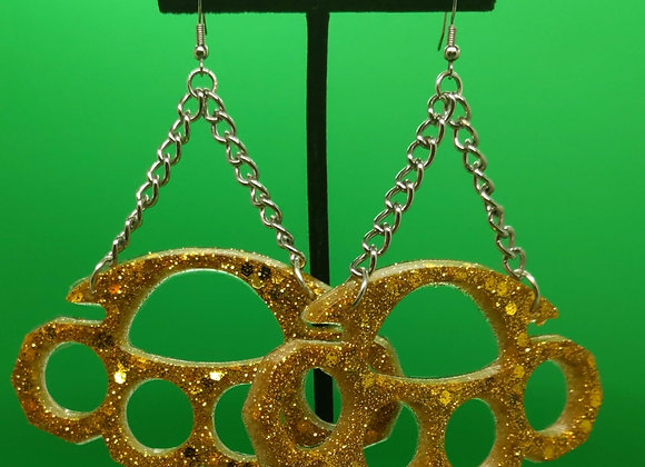 Brass Knuckle Earrings