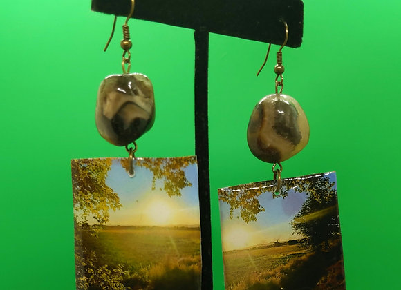 Agate Sunset Earrings