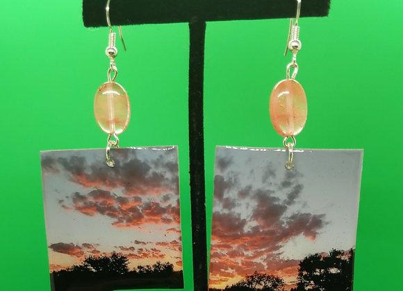 Rose Gold Sunset Earrings