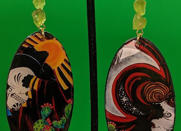 Muertos Missing Home Peridot Earrings