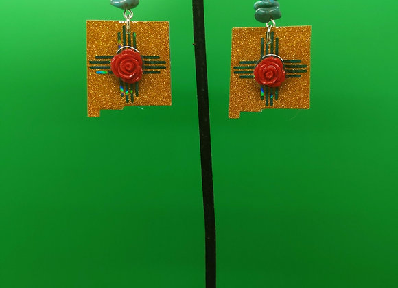 Turquoise Gold NM Earrings