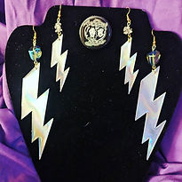 These lightning earrings are really just