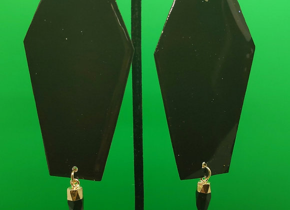 Classy Coffins Earrings (Black)