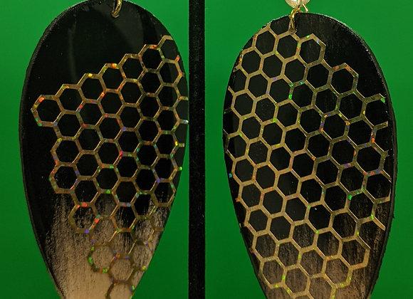 Citrine Honeycomb Earrings