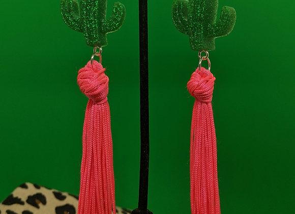 Cacti Tassle Earrings