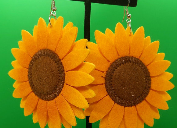 Stitched Felt Sunflowers